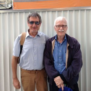 JEAN LIBRERO ET LE PROFESSEUR DAVID JACOBS A SON ARRIVEE A PARIS 15 SEPTEMBRE 2018