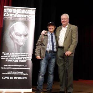 Philip Mantle et Stefanos Panagiotakis au congrès OuterLimits Magazine, Angleterre, Aout 2019